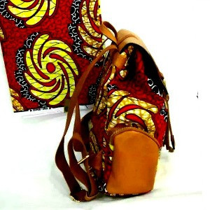 frican Print Trendy Fashion Back Pack Red And Yellow $ 80.00
