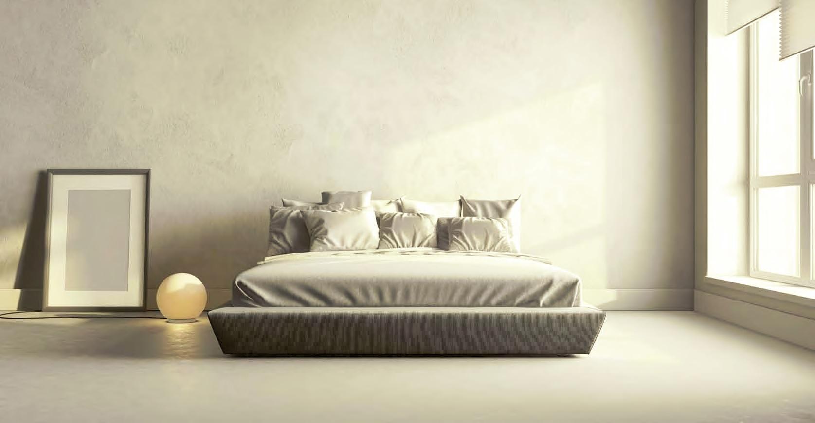 Pavimento e parete in resina per camera da letto Elekta