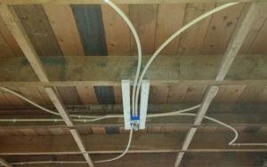 elektra leiding in plafond