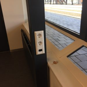 Stopcontact wachtkamer NS station Amersfoort
