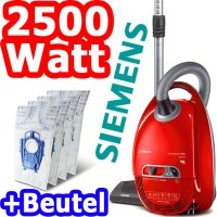 SIEMENS VS08G2511 BODEN STAUBSAUGER 2500 WATT + BEUTEL ...