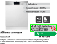 AEG Einbau-Geschirrspler FES5360CZM