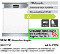 SIEMENS SN535S00AE Einbau-Geschirrspler
