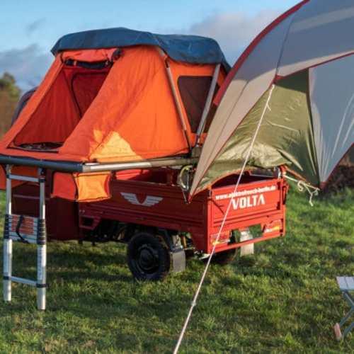 Elektrofrosch Camping Zelt Regenplane