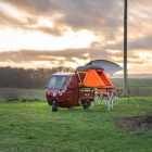 Elektrofrosch Camping Zelt Regenplane Küche