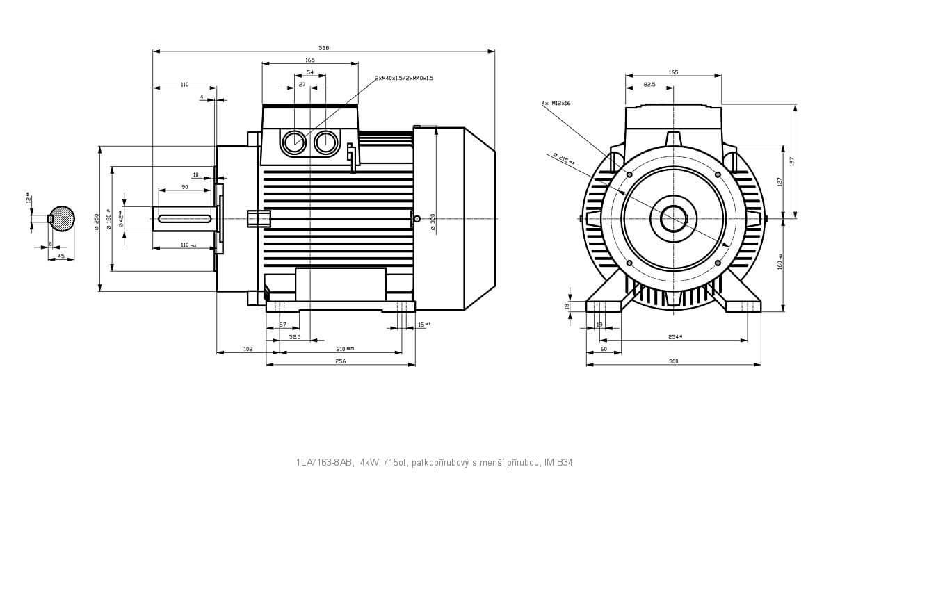 Elektromotor Siemens 1la 8ab 4kw 715ot