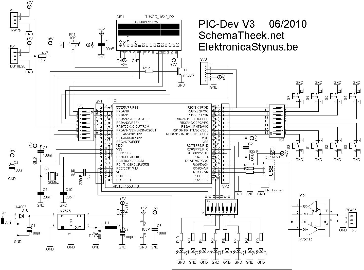 Pic18f Development Board Elektronicastynus