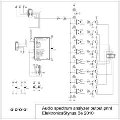 Audio Spectrum Analyzer Circuit Diagram Shopping Mall  Elektronicastynus
