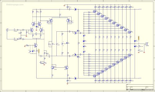 small resolution of 1kw rms mosfet amplifier