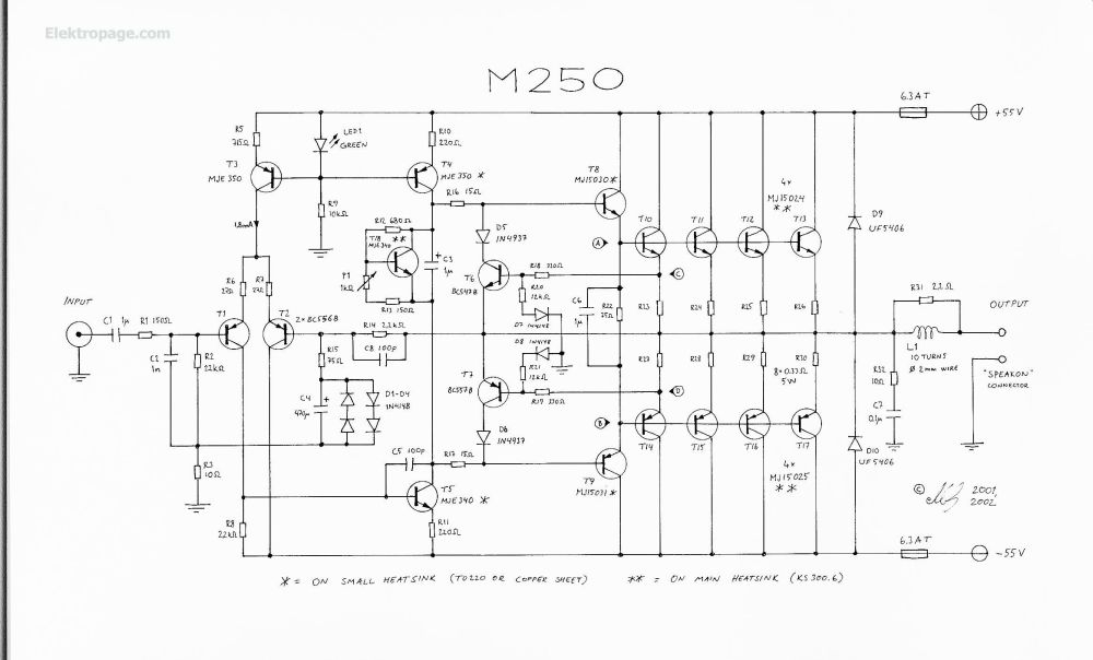 medium resolution of 250 watt amplifier schematic circuits 250 watt amplifier schematic