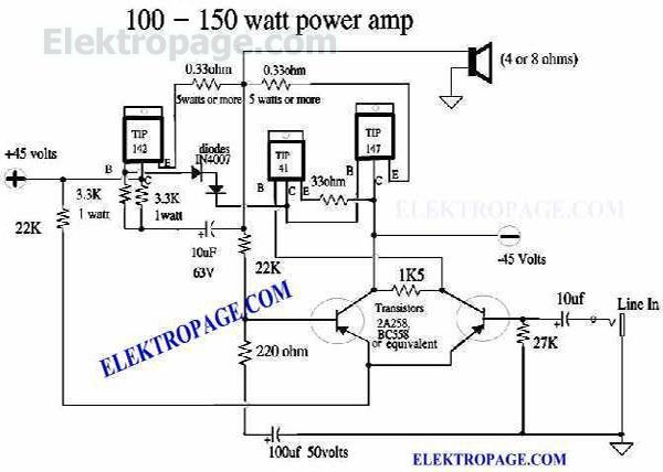1000w Audio Lifier Circuit Diagram, 1000w, Free Engine