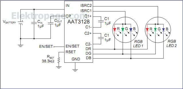 10 watt led driver circuit diagram 24 volt wiring for trolling motor batts rgb fashion lighting controller - schematic circuits elektropage.com