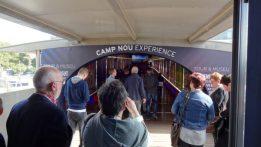 Begin van de Camp Nou Experience