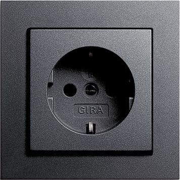 Stopcontact Met Randaarde Antraciet Gira E2 Schakelmateriaal