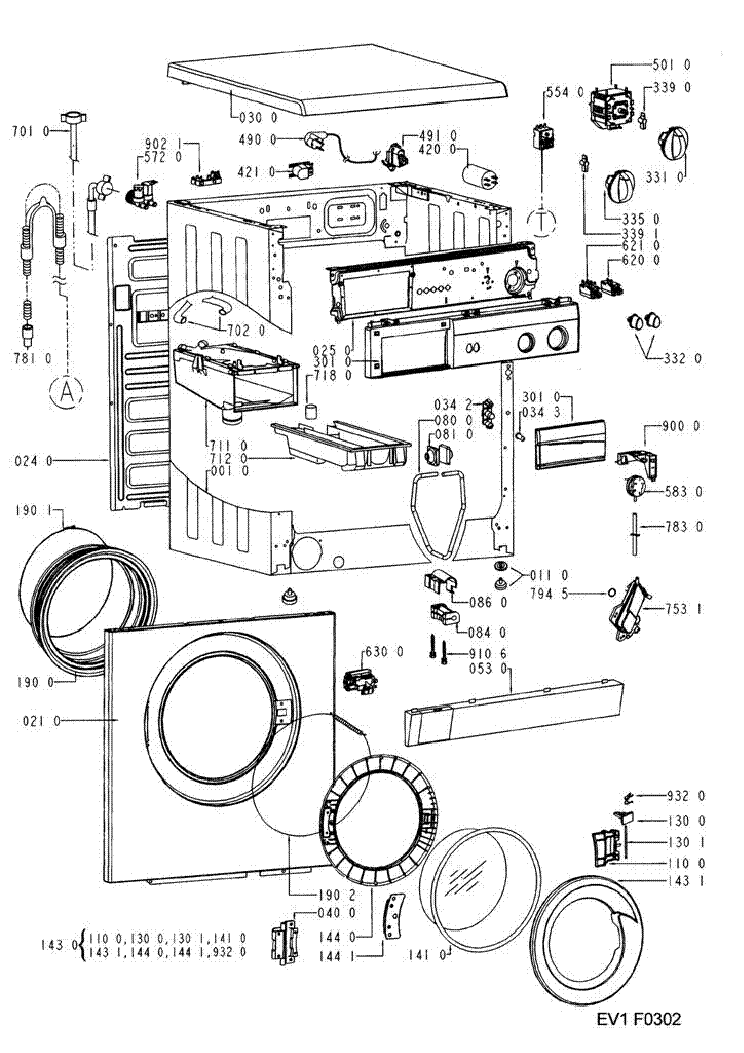 WHIRLPOOL IGNIS AWV414 Service Manual download, schematics