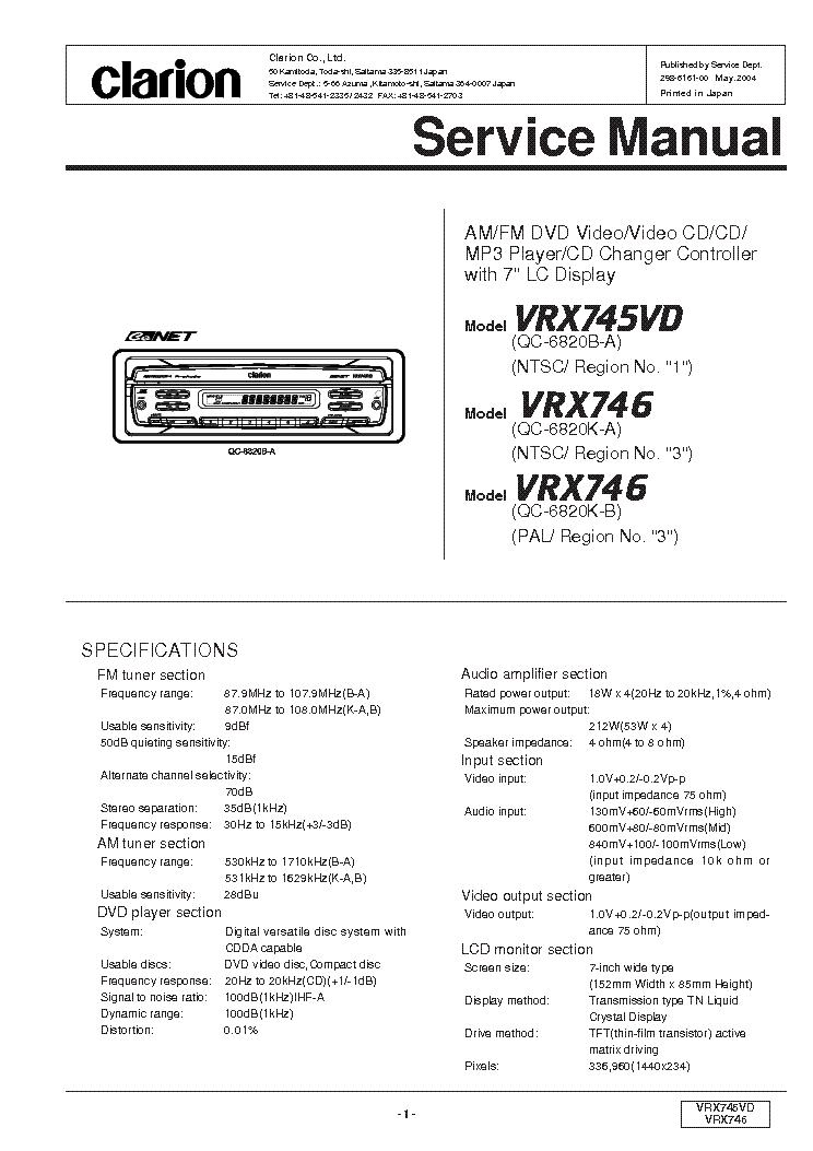 Clarion Xmd3 Wiring Manual