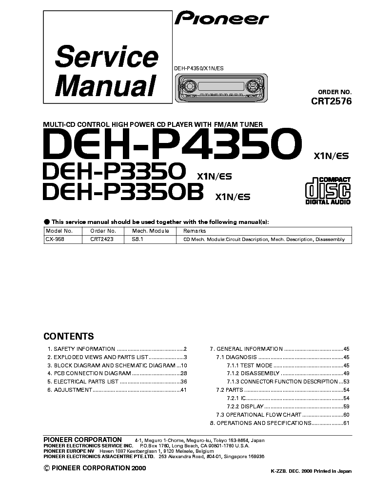 wiring diagram pioneer deh x6600bt diagram free printable wiring diagrams