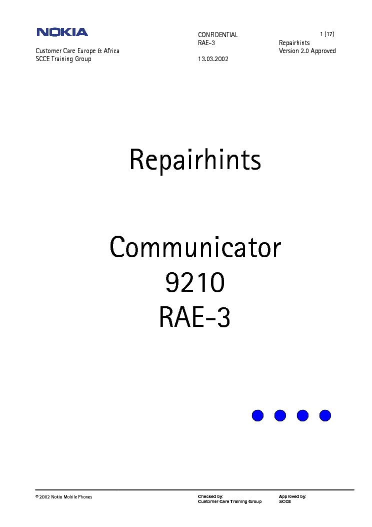 Nokia 9210 Repair Gallery