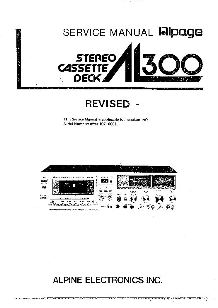 ALPINE 7909L Service Manual download, schematics, eeprom