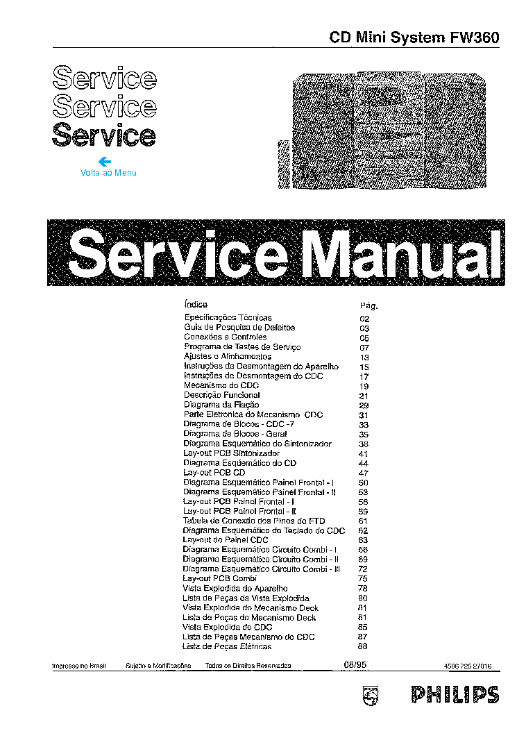 PHILIPS MCD708 VER-1.4 SM Service Manual free download