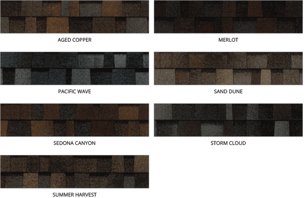 Owens Corning Shingle Color Chart by Element Roofing