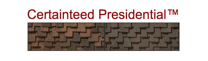 Element Roofing Contractors in Pleasanton install Certainteed Presidential Shingles