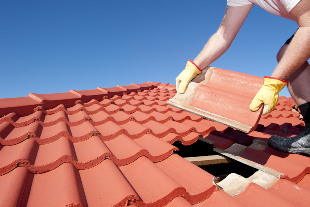 Element Roofing Installing residential roof in Pleasanton, CA.