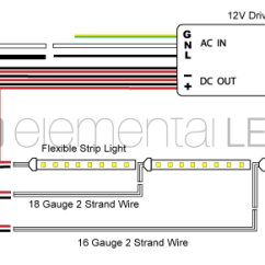 Wiring Diagram For House Lights Rv Converter Charger How To Create A Large Led Light Installation Elemental Flexible Strip Parallel Run