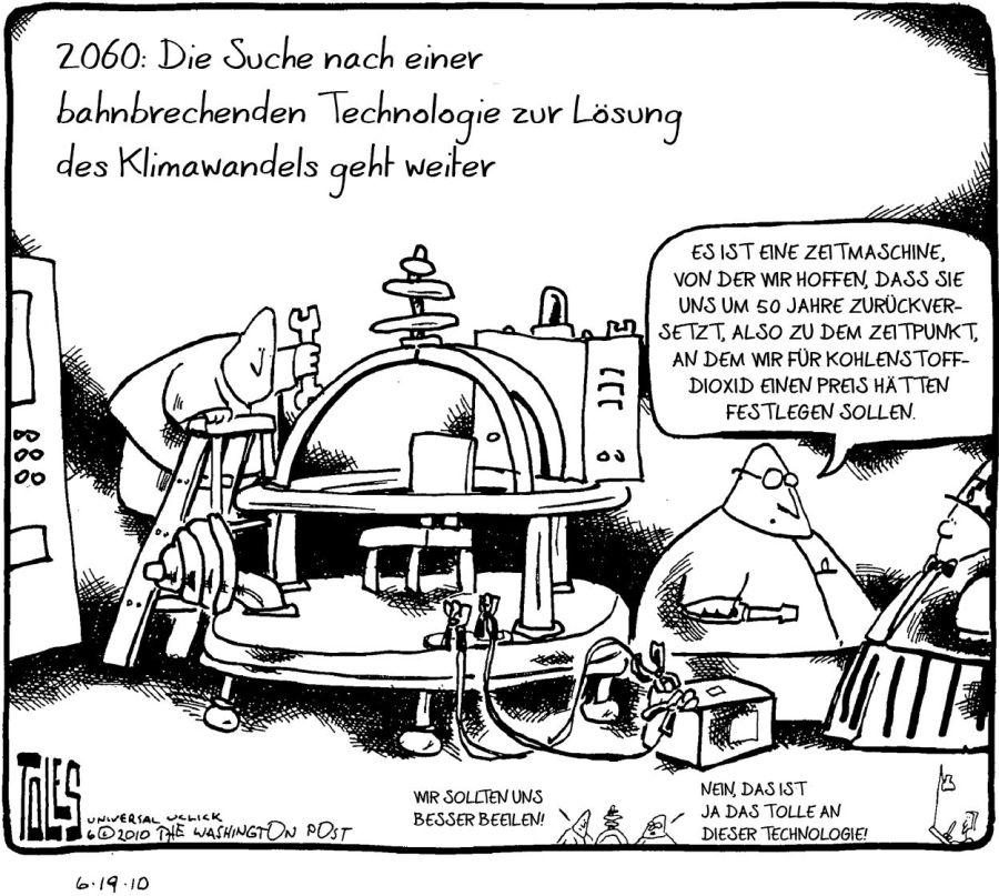 Cartoon Toles Jahr 2060