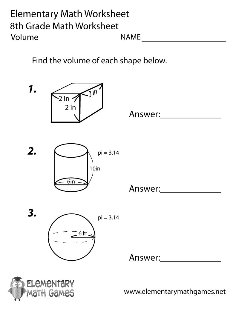 worksheet Pi Worksheets math volume worksheets free library download and print pr t ble w ksheet eighth gr de