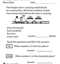 Fourth Grade Place Value Worksheet [ 1035 x 800 Pixel ]