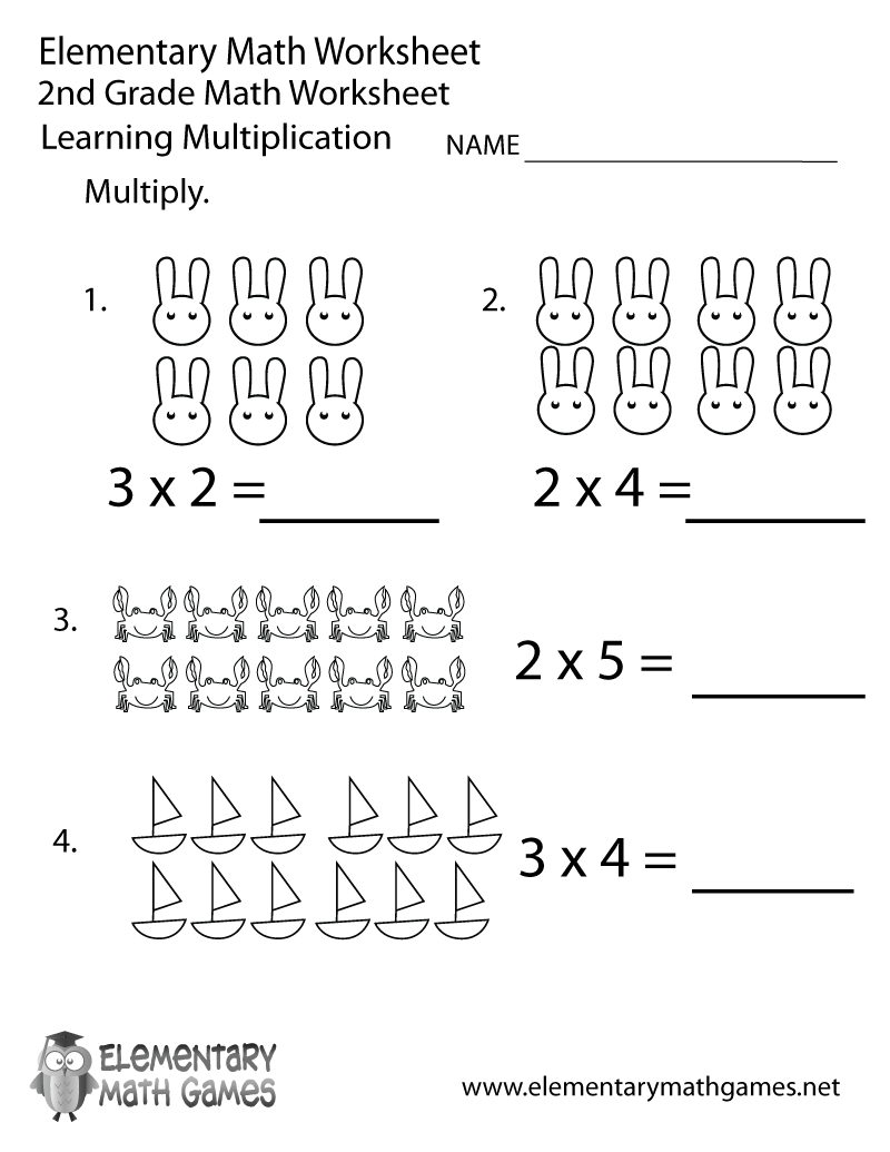 medium resolution of Free Printable Multiplication Worksheet for Second Grade