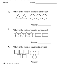 Sixth Grade Ratios Worksheet [ 1035 x 800 Pixel ]