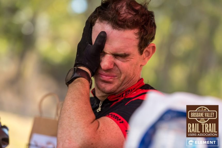 Riders show emotion as they finish the gruelling challenge.