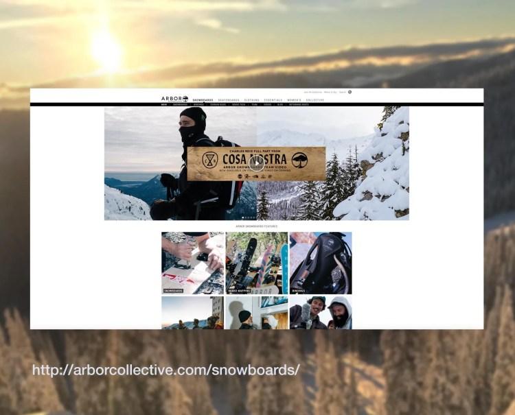 Arbor Snowboards Site