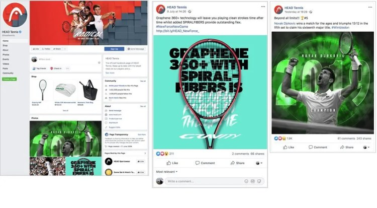 Head Tennis Social Branding