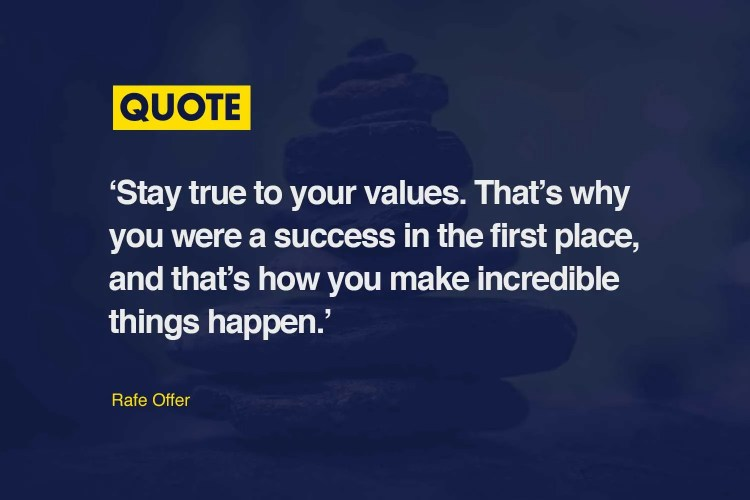 Brand Values Quote by Race Offer