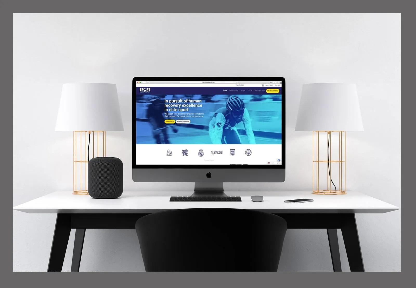 Website Design Sport Sleep Coach