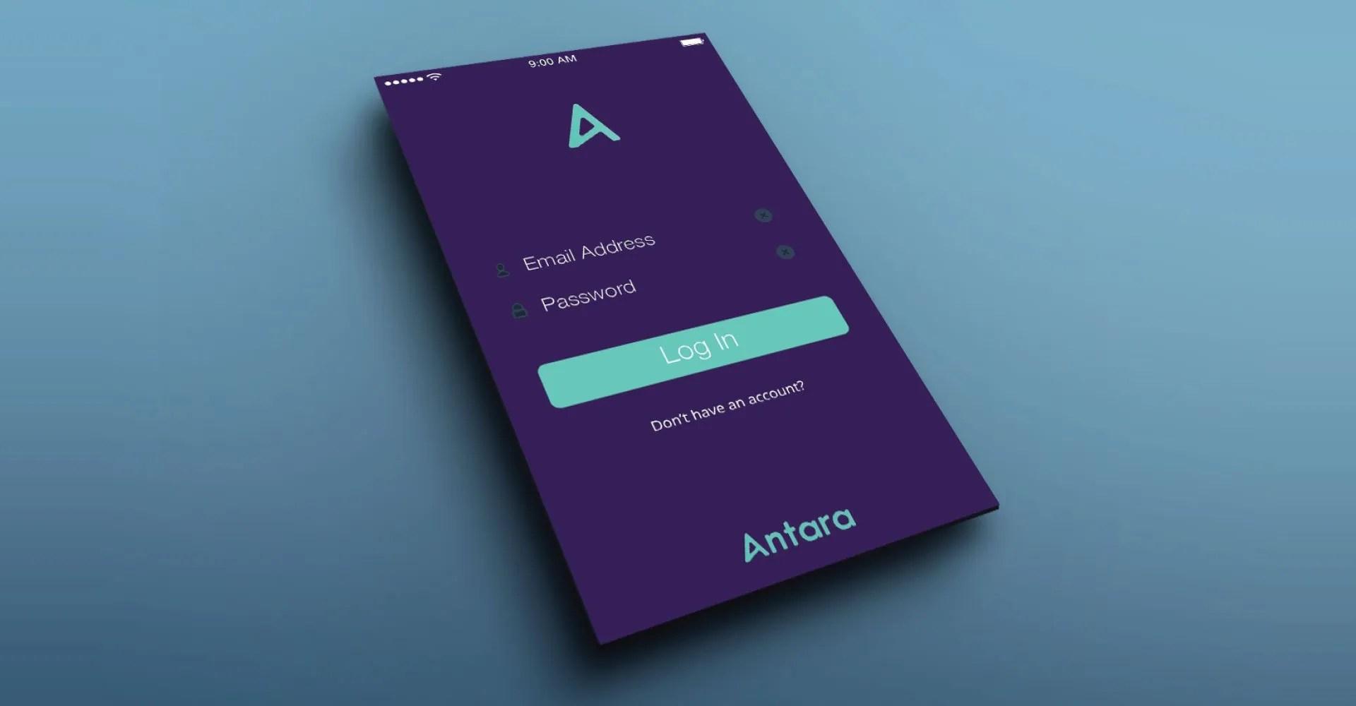 Antara Brand design for app startup