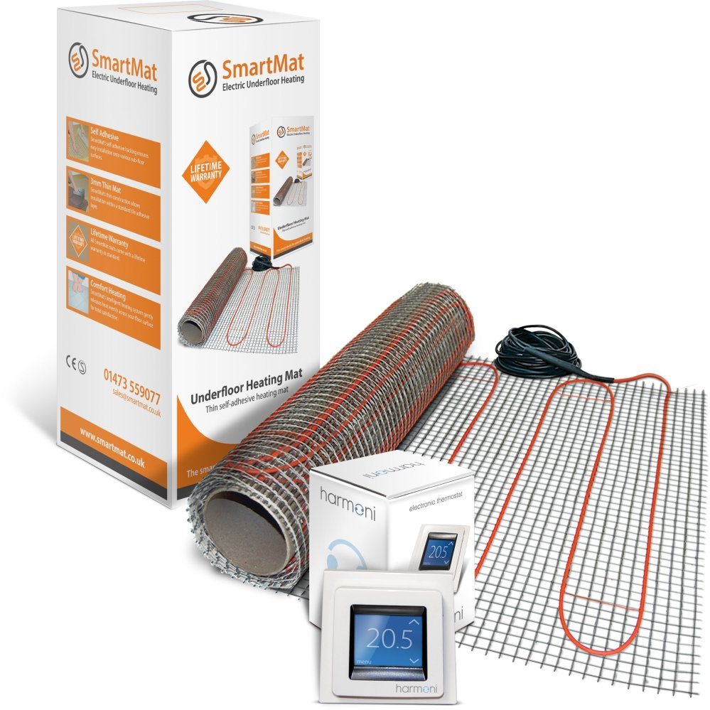 medium resolution of smartmat 150w m2 9 0m2 1350w underfloor heating kit harmoni 50 thermostat element shop