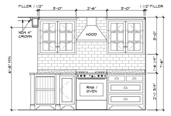 Kitchen Cabinets Elevations kitchen island elevation - kitchen design