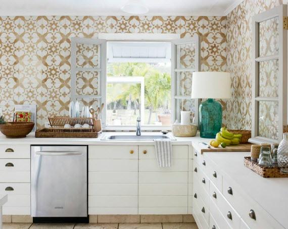 cement tile kitchen corner shelf let s discuss patterned elements of style blog tom scheerer decorates with cuban tiles