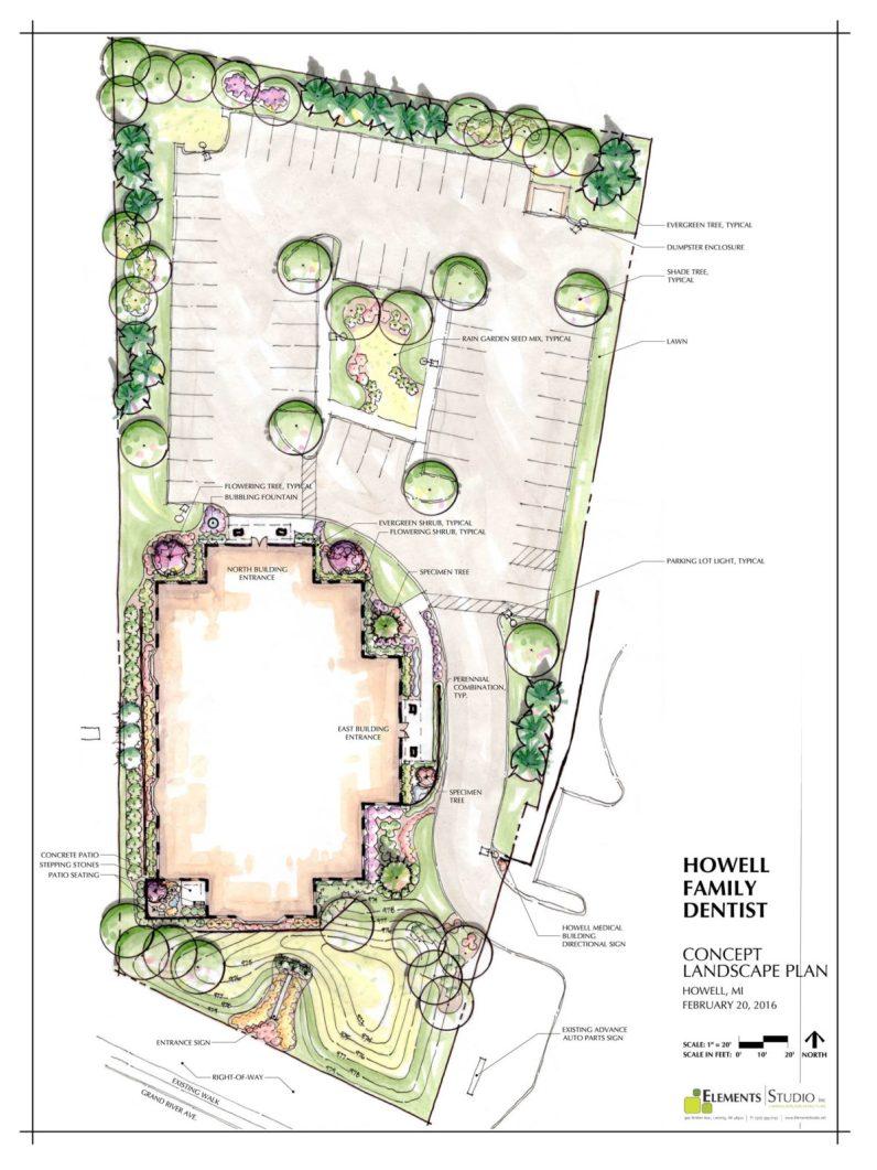 Dentist Office Concept Landscape Plan