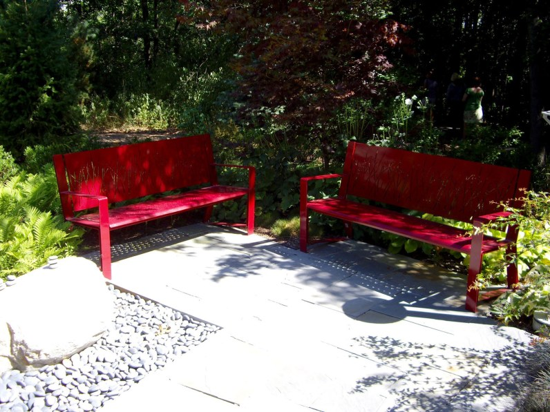 Even site furniture can be an aesthetically pleasing focal point.