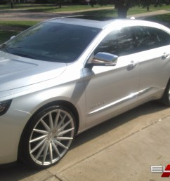 22 inch staggered varro vd15 matte silver brushed face on 2015 chevy impala w specs element wheels [ 1500 x 873 Pixel ]