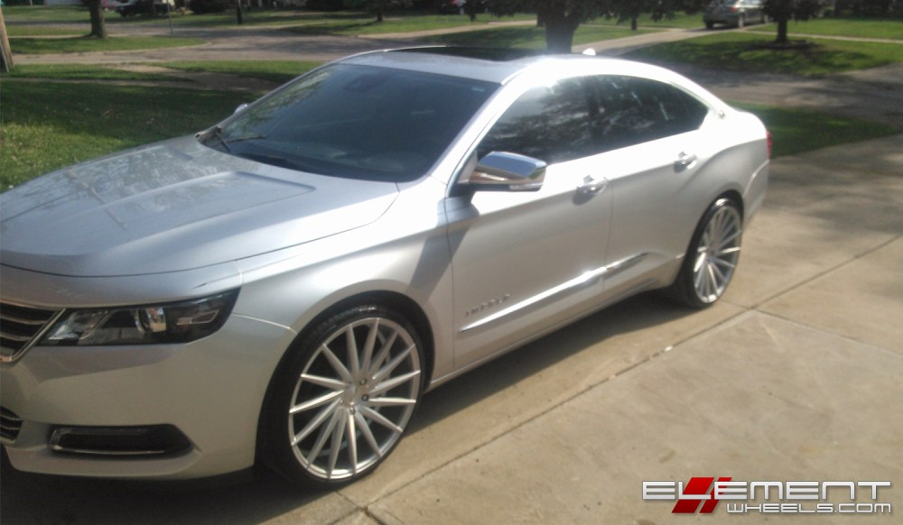 medium resolution of 22 inch staggered varro vd15 matte silver brushed face on 2015 chevy impala w specs element wheels