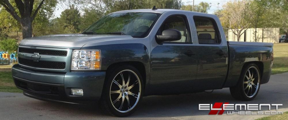 medium resolution of 24 inch lexani lx9 black machined wheels on custom 2008 chevy silverado w specs