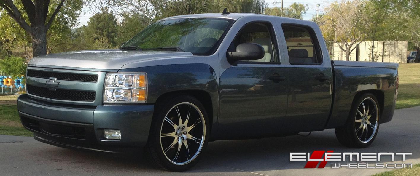 hight resolution of 24 inch lexani lx9 black machined wheels on custom 2008 chevy silverado w specs