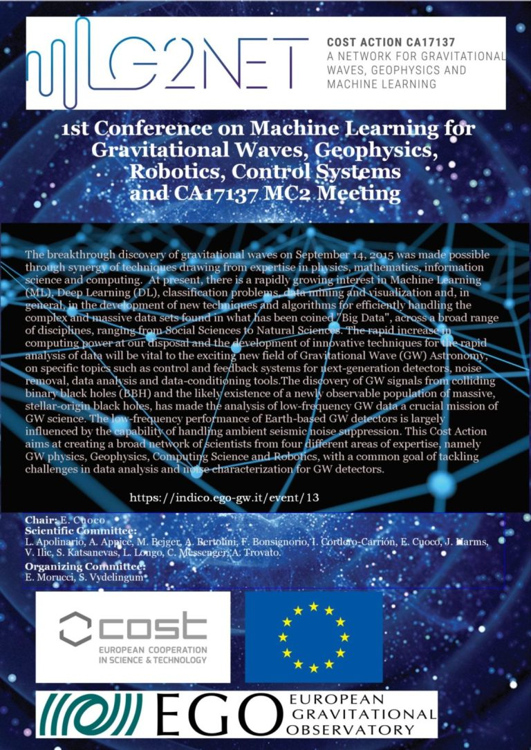 1st Conference on Machine Learning for Gravitational Waves