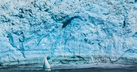Barca a vela d'inverno